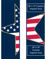 "30"" x 94"" Double Sided Stars & Stripes Street Pole Banner Flag Banner Set"