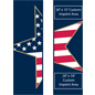"30"" x 94"" Pre-Printed Stars & Stripes Street Pole Banner Flag Banner Set"