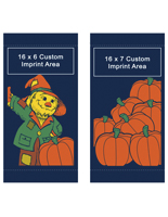 Pumpkin Fall Theme Double Sided Pole Banners Flag Set
