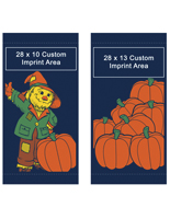 Scarecrow Autumn Theme Double Sided Street Pole Banners Set