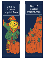 Canvas Fall Themed Double Sided Street Pole Sign Banner Set
