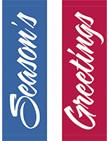 30 x 94 Outdoor-Rated Holiday Street Light Flag Banner Set