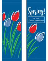 "30"" x 94"" Spring Light Pole Flag Banner Set with 28"" x 30"" Imprint Area"