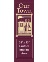 "30"" x 94"" Municipal Town Flag Banner with 28"" x 33"" Imprint Area"