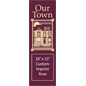 "30"" x 94"" Municipal Town Flag Banner with Custom Graphics"