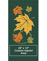 30 x 60 Fall Theme Downtown Banner Flags with Whirling Leaves Theme