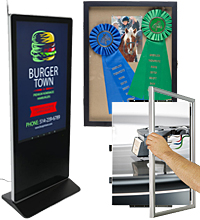 digital poster frames and lightboxes