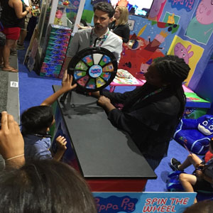 Prize spin game wheel for book fair