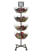 Mobile 4 Tier Basket Stand