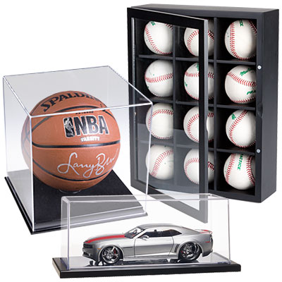 dust covers and cases for smaller items such as models and sports memorabilia