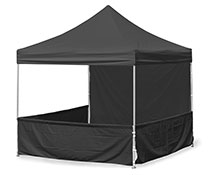 3m x 3m Easy-Up Square Canopy in Black