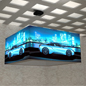 Trade show 8' overhead hanging cube light box sign