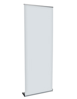 Retractable Vertical Banner Stand with Telescoping Pole