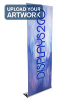 "Custom Retracting Banner, 32"" Minimum Height Range"