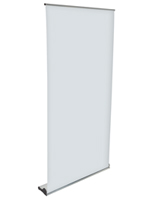 "Oversize Roll Up Banner Stand, 8.75"" Overall Depth"