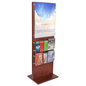 Poster Holder With 10 Leaflet Compartments, Edge Grip Standoffs