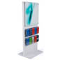 Black Wooden Information Kiosk Stand with Acrylic Panel