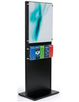 Black Wooden Information Kiosk Stand