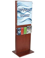 "Poster Holder With 5 Pamphlet Compartments for 22"" x 28"" Visuals"