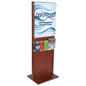 Poster Holder With 5 Pamphlet Compartments for Schools