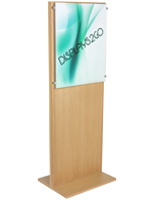 Freestanding Oak Poster Stand for Trade Shows