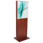 Freestanding Mahogany Poster Stand for Promotions