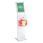 Clear Charity Collection Box with Sign Holder