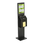 Black Literature Stand with Ballot Box for Floor Display