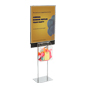 Metal Silver Sign Stand with Sweepstakes Box