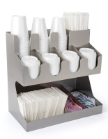 11 compartment stainless steel tabletop condiment organizer