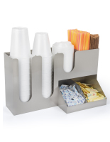 Stainless steel coffee counter organizer with 7 pockets