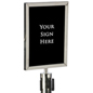 "Silver 11"" x 14"" Stanchion Sign Holder"