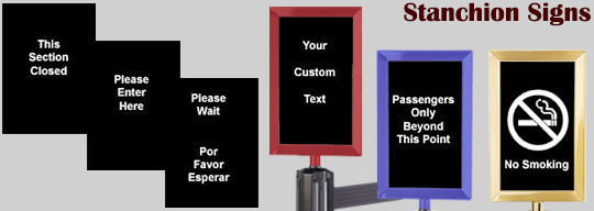 stanchion message signs