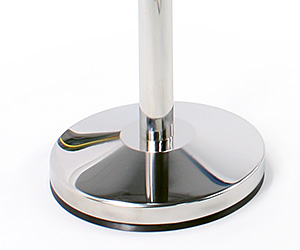 Silver Stanchion Base with Chrome Finish