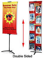 This stand up banner is a very effective yet inexpensive marketing tool.