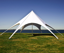 Star Shade Tent with Fire Retardant Fabric