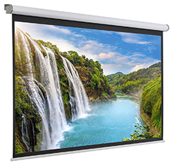 stationary wall mount motorized screen