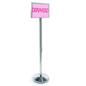 Chrome Stanchion with Sign Frame