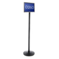 Black Stanchion with Sign Frame