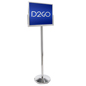 Chrome Stanchion Post with Sign Holder
