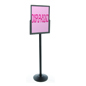 Black Sign Mounting Stanchion