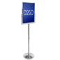 Chrome Sign Mounting Stanchion