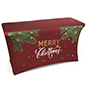 "4' ""Merry Christmas"" stretch table cover for rectangular fixtures"