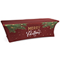 "8' ""Merry Christmas"" fitted table cover with foot pockets"