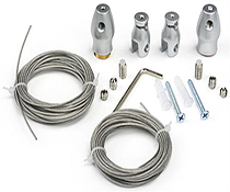Steel Sign Suspension Kit with Metal Wire