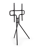 Modern steel easel TV with three molded legs