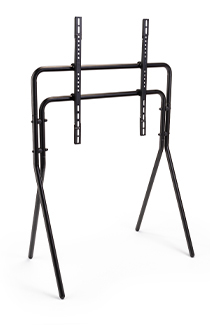 Artistic studio TV floor stand with 4 sturdy metal legs