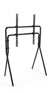 Black artistic studio TV floor stand