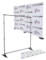 Step and repeat backdrop kits