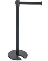 Black Stackable Stanchion is Great for Banks
